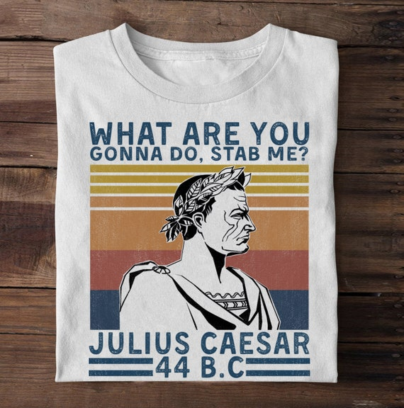 Stab Me? Tshirt Fitted Ladies Caesar Roman What Are You Gonna Do Funny