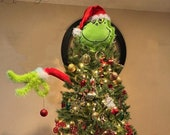 The Grinch, Grinch Topper, Arm Ornament ,Head Topper, Tree Topper, Christmas Decoration, Christmas Tree, Christmas gift.
