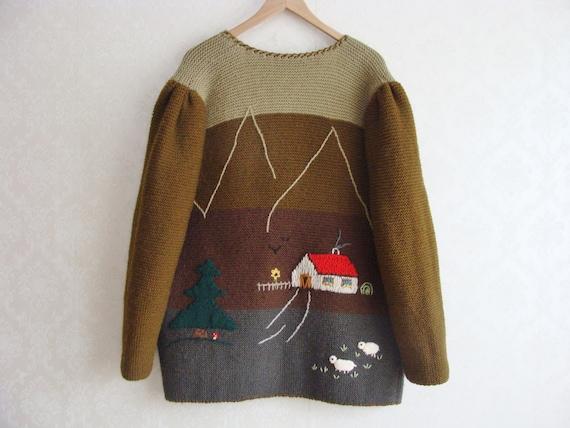 Hand Knitted Austrian Trachten Jacket, Austrian H… - image 8