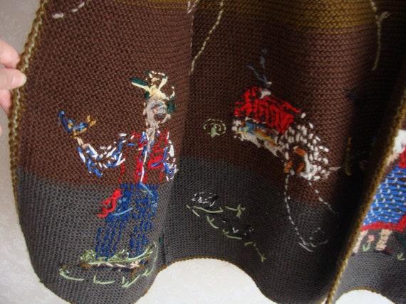 Hand Knitted Austrian Trachten Jacket, Austrian H… - image 6