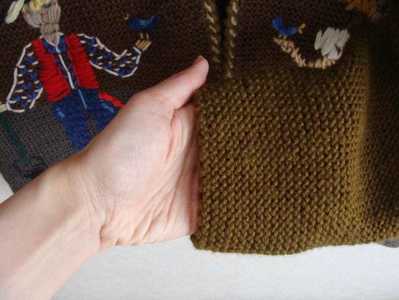 Hand Knitted Austrian Trachten Jacket, Austrian H… - image 7