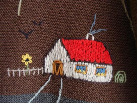 Hand Knitted Austrian Trachten Jacket, Austrian H… - image 9
