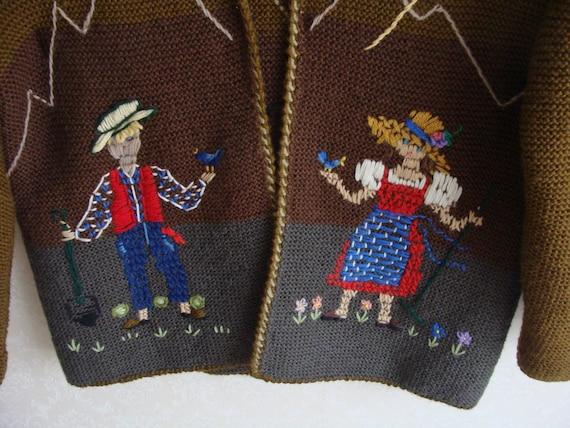 Hand Knitted Austrian Trachten Jacket, Austrian H… - image 3
