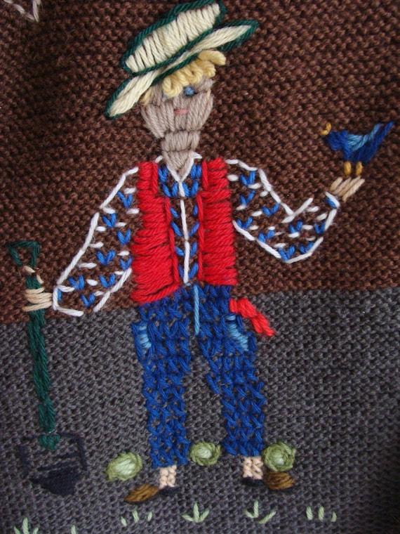 Hand Knitted Austrian Trachten Jacket, Austrian H… - image 4