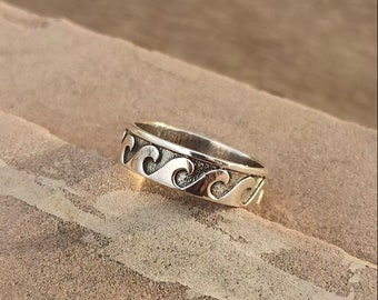 UK Recycled Silver Colourful Stacking Rings UK Handcrafted Glass /& Silver Wave Ring,