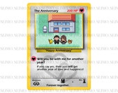 Pokemon The Anniversary Trading Card Wedding Valentines Marriage Marry Gift for Him Her Boyfriend Girlfriend Husband Wife