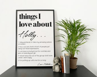 Things I love About Custom print