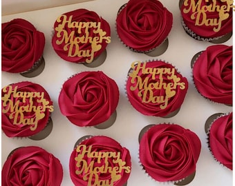 6  x Mother/'s Cupcake Toppers