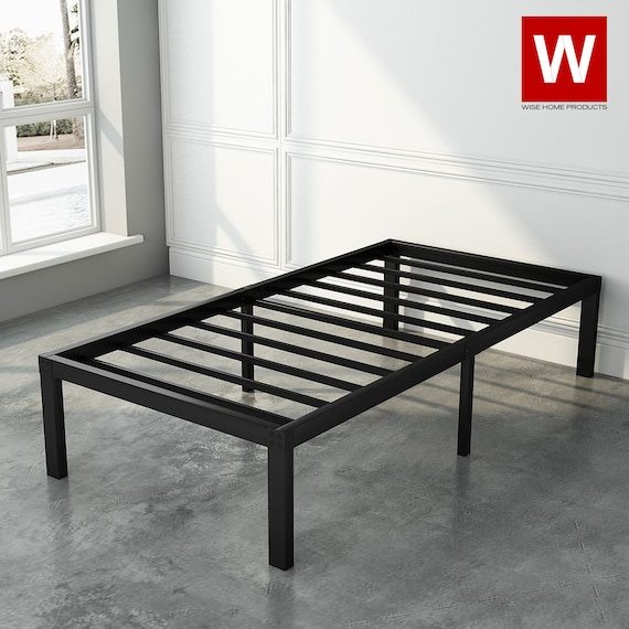 Twin Xl Modern Steel Platform Bed Frame, How Long Is A Extra Twin Bed Frame