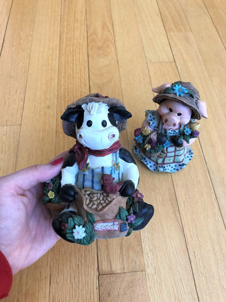 Adorable Cow and Pig Magic Creation Figurines