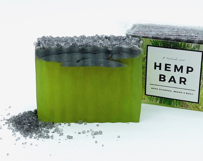 Men's Shampoo Beard & Body Hemp Bar