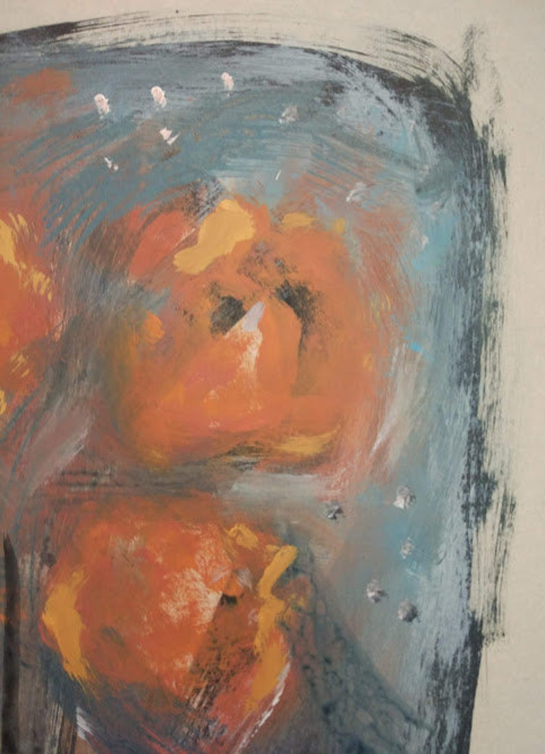Original paintingStillife Flowers Picture ExpressionismMusic Art WorkArtist Perekucha