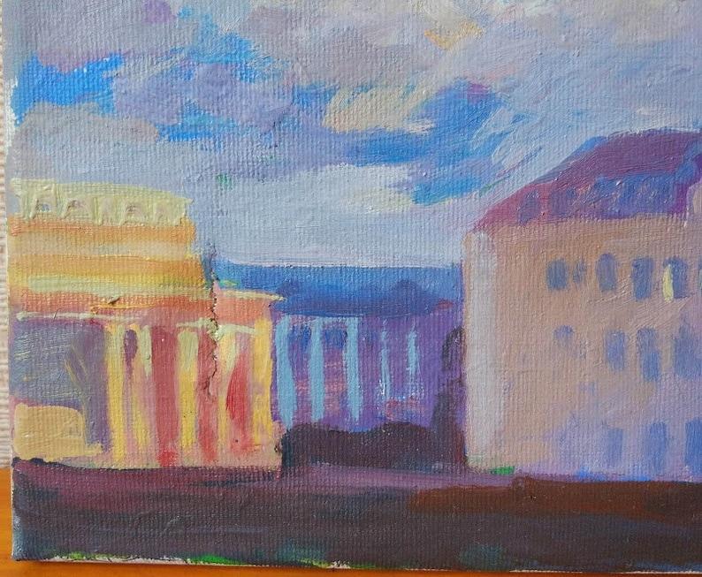 Original PaintingCityscape Oil Art WorkLandscapePictureOne Of Kind