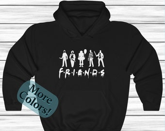 Halloween Friends Hoodie, Horror Movie Sweatshirt, Horror Characters, Unisex Sweatshirt , Friends Sweater, Movie Cloths Fall Sweater