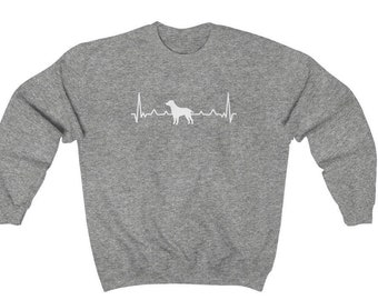 Heartbeat Dog Sweatshirt, Dog Mom Sweater, Funny Sweatshirt, Animal Love Sweater, Dog lover Pullover, Gift for her, Valentines Day
