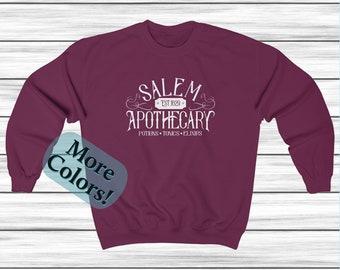 Salem Apothecary Sweatshirt, Crewneck Sweatshirt, Halloween Sweater, Fall Clothing, Fall Cloths, Unisex Sweatshirt