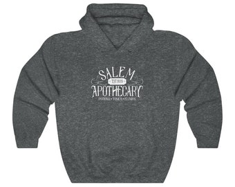 Salem Apothecary Hoodie, Halloween Sweatshirt, Halloween Sweater, Fall Clothing, Fall Cloths, Unisex Sweatshirt