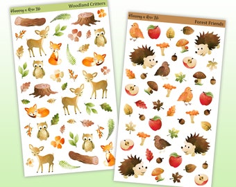Forest Friends/Woodland Critters Decorative Stickers