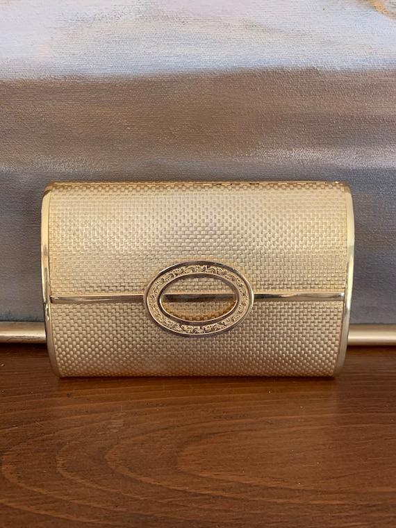 Vintage Gold Metal Dorian Continental Purse Clutch
