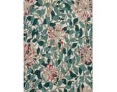 Vintage Floral Area Rug 3 Sizes Machine Washable William Morris Accent Rug Bedroom Rug Living Room Carpet Kitchen Rug Colorful Rug