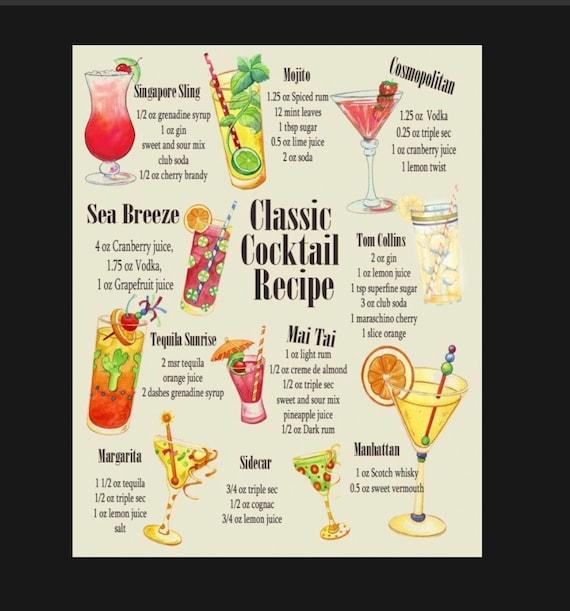 SINGAPORE SLING  COCKTAIL RECIPE METAL SIGN HOME BAR:PUB:BAR:CAFE LOVELY GIFT