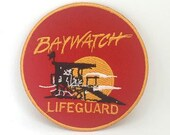BAYWATCH Swimsuit Lifeguard Logo Iron-On Embroidered Patch
