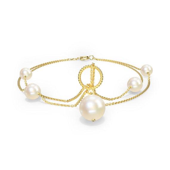 Gold Bracelets 10k Anchor 18k Blue Sapphire Wedding Women Anniversary Charm Bracelet Heart Gift for her stacking type plain rolo chain