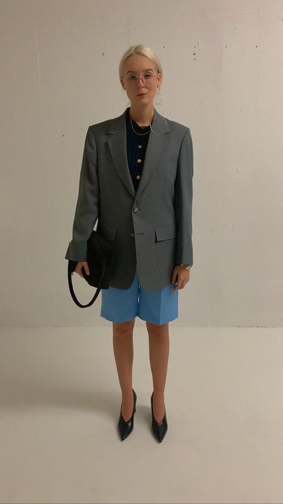 Vintage Oversized Grey Blazer - image 3