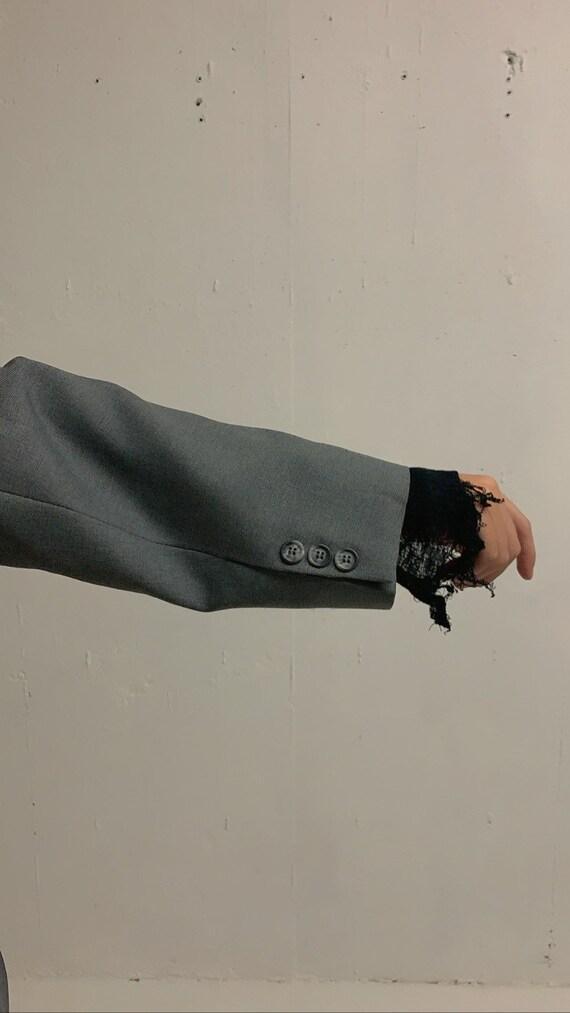 Vintage Oversized Grey Blazer - image 6