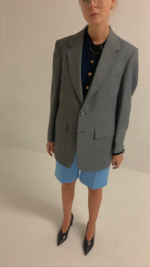 Vintage Oversized Grey Blazer - image 1
