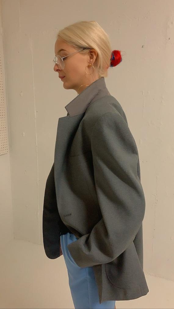 Vintage Oversized Grey Blazer - image 4