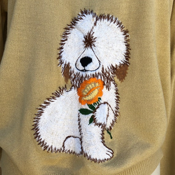 1970s Novelty Embroidered Sweater