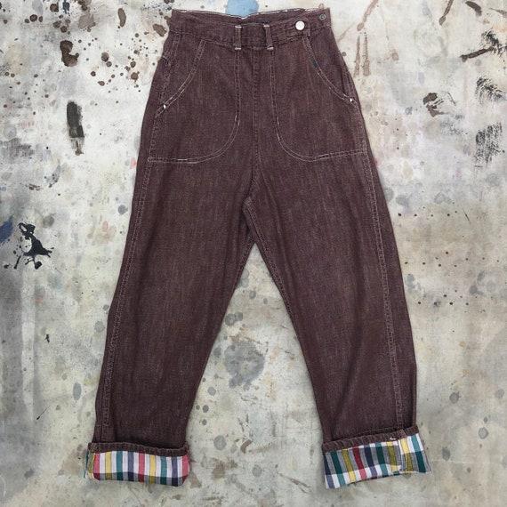 50s Kids Brown Denim Jeans