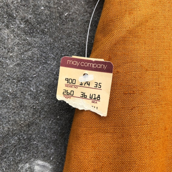 90s Gold Linen Skirt Suit - image 8