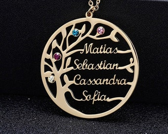 Mothers day Personalized family tree Tree Pendant charm Branch pendant WSALE 10pcs  NP-931 Matt Gold plated