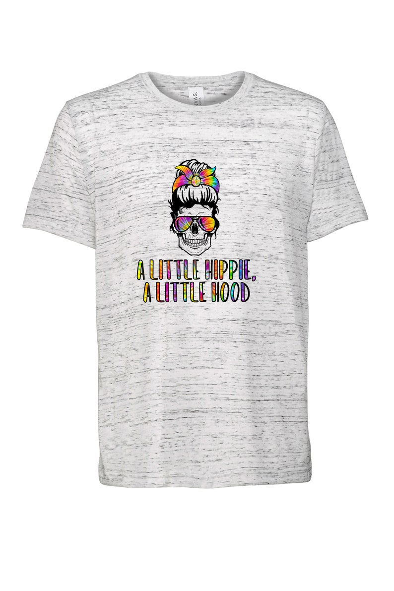 tank top Tie Dye Skull sublimation t-shirt top bun skull with shades muscle tank A Little Hippie A Little Hood