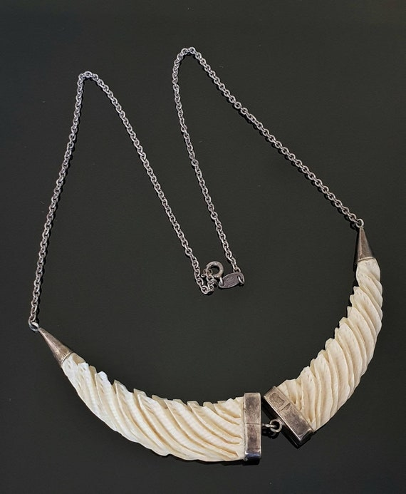 Carved Native Collar Necklace