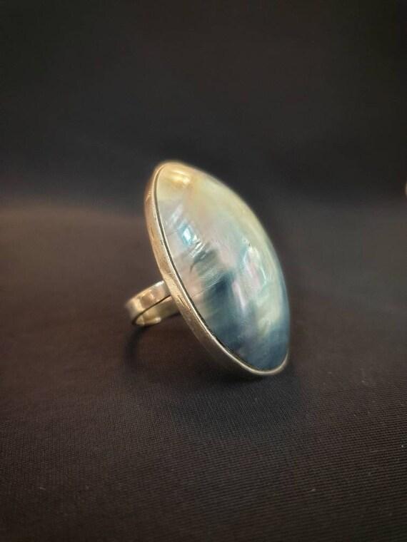Nautilus Shell Silver Ring/ Natural Shell Ring/ Mo