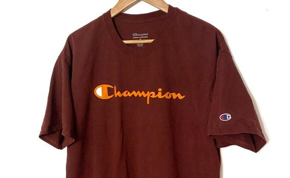 Rare* Champion burgundy and orange tee