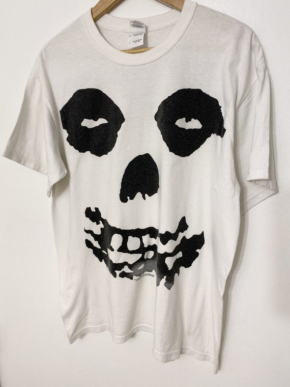 misfits white vintage 2002 t Shirt rare