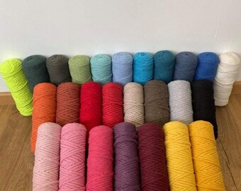 Combed macramé rope 3mm free shipping all the month of September