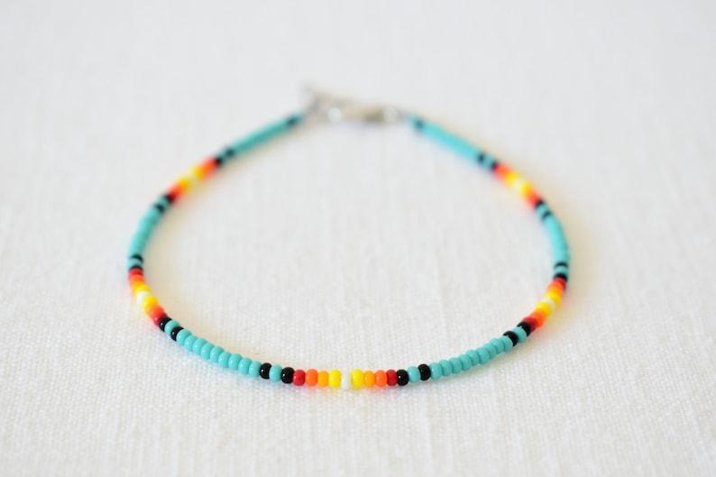Dainty Anklet Colorful Bead Anklet Beach Anklet VSCO Anklet Boho Anklet Ankle Bracelet Island Sunset Beaded Anklet Seed Bead Anklet