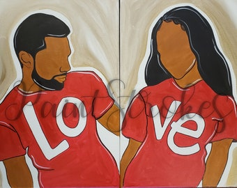 Love Couple Painting Etsy