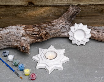 Paint Your Candle Holder Star | Creative Activities | Gift Ideas | Etsy Finds