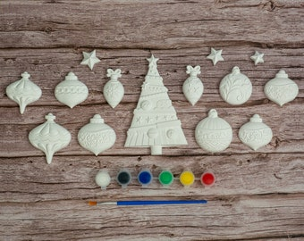 Paint Your Christmas Decorations 5 | Winter Decorations | Creative Activities | Gift Ideas | Etsy Finds