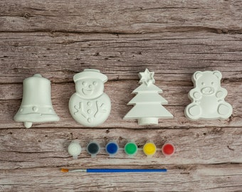 Paint Your Christmas Decorations 1 | Winter Decorations | Creative Activities | Gift Ideas | Etsy Finds