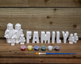 Paint Your Family Robot Lego Like | Creative Activities | Gift Ideas | Etsy Finds
