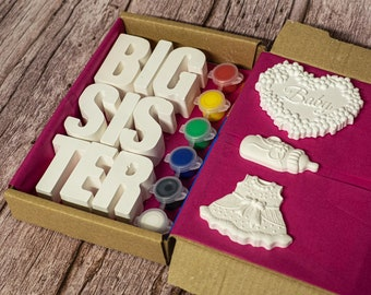 Big Sister Announcement Painting Craft Kit