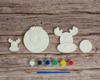 Paint Your Christmas Decorations 3 | Winter Decorations | Creative Activities | Gift Ideas | Etsy Finds