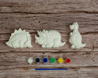 Paint Your Dinosaur Set | Creative Activities | Gift Ideas | Etsy Finds